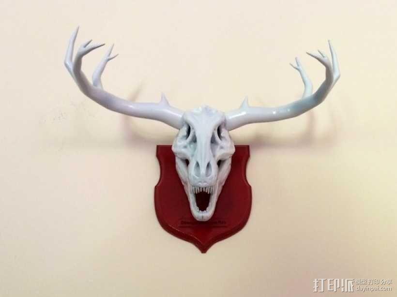墙面装饰品:鹿角+恐龙 3D模型  图2
