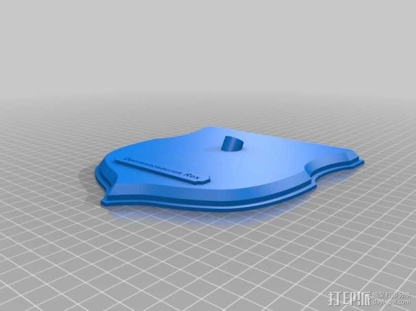 墙面装饰品:鹿角+恐龙 3D模型  图8