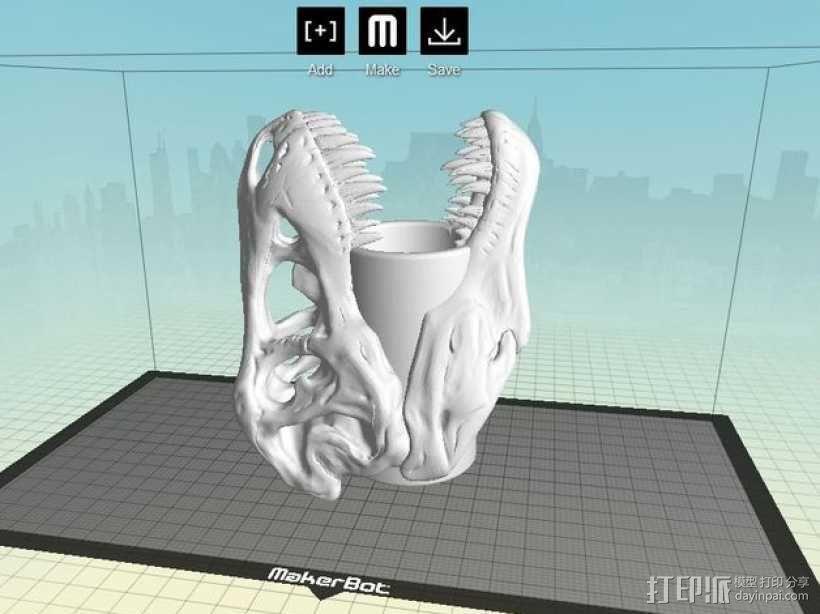 霸王龙笔筒/牙签筒 3D模型  图7