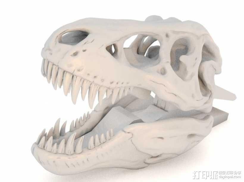 恐龙形衣夹 3D模型  图1