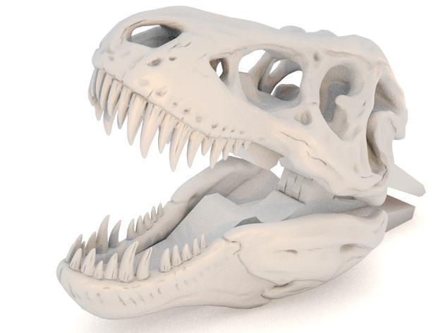 恐龙形衣夹 3D模型  图2