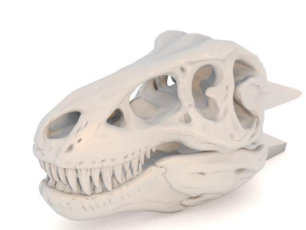 恐龙形衣夹 3D模型  图3