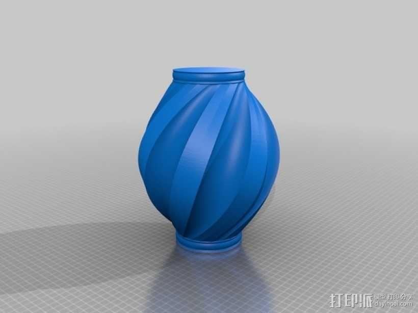 螺旋式花瓶 3D模型  图2