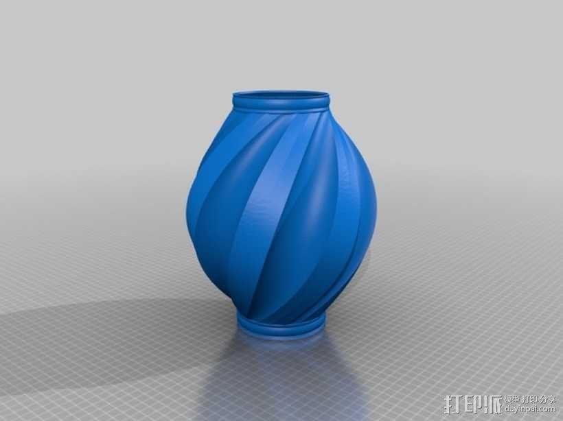 螺旋式花瓶 3D模型  图3