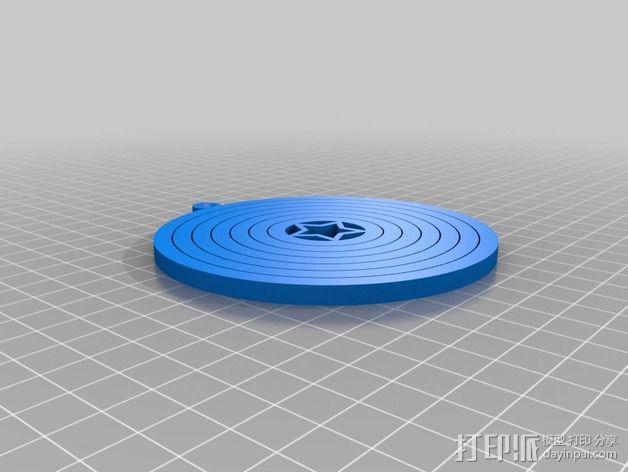 陀螺形圣诞树装饰品 3D模型  图3
