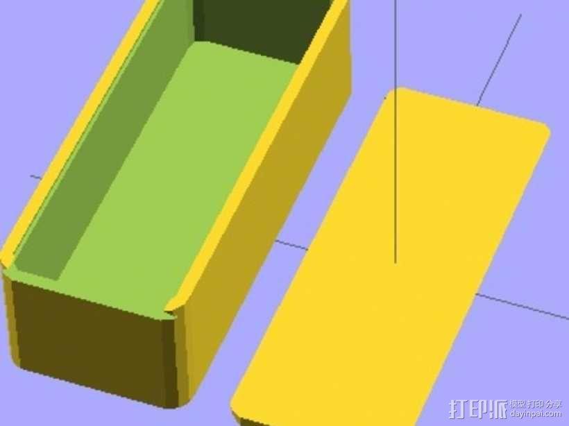 参数化滑盖零件盒 3D模型  图2