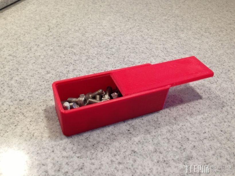 参数化滑盖零件盒 3D模型  图1