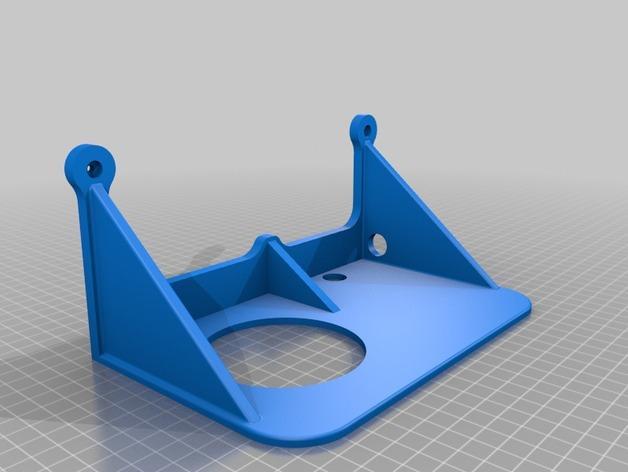 壁挂式迷你床头柜/床头架 3D模型  图3