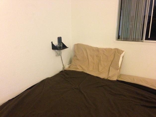 壁挂式迷你床头柜/床头架 3D模型  图6