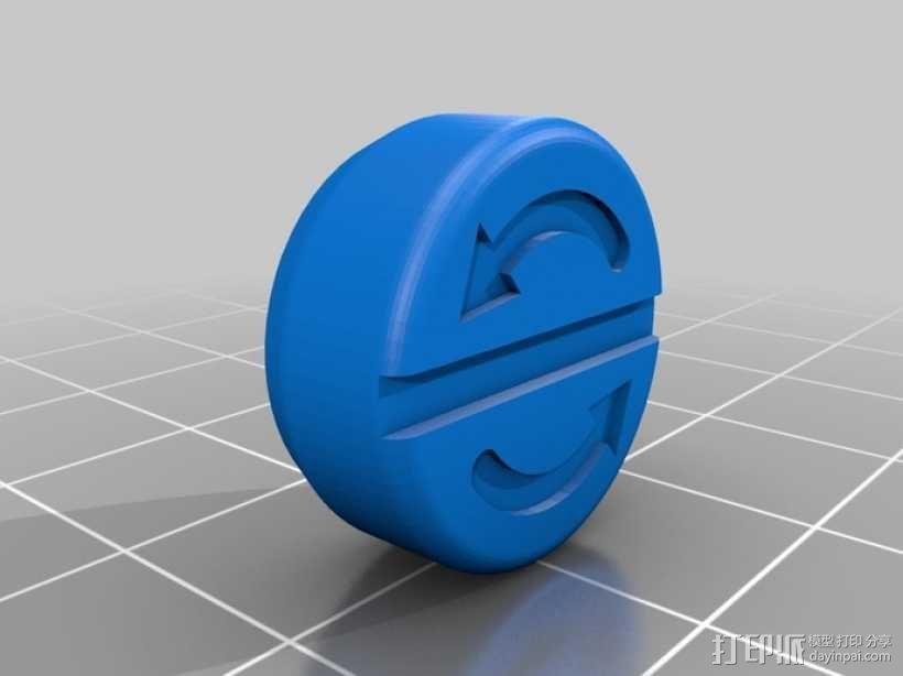 松鼠形盐瓶/胡椒瓶 3D模型  图2