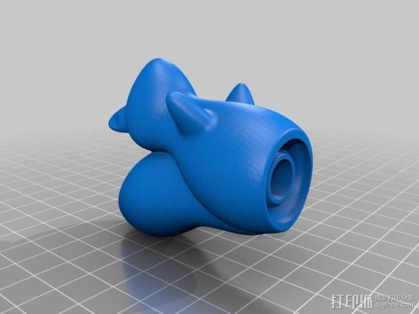 松鼠形盐瓶/胡椒瓶 3D模型  图3