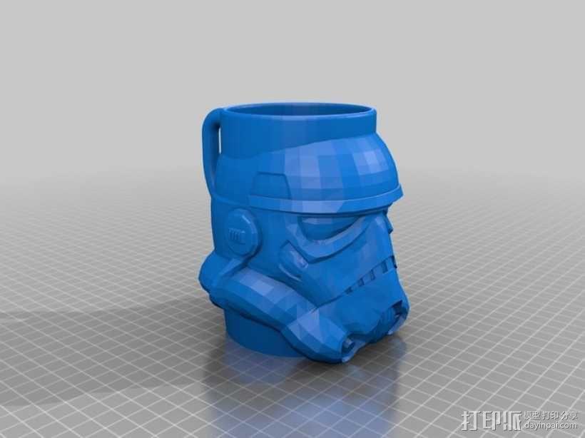 冲锋战士马克杯 3D模型  图2