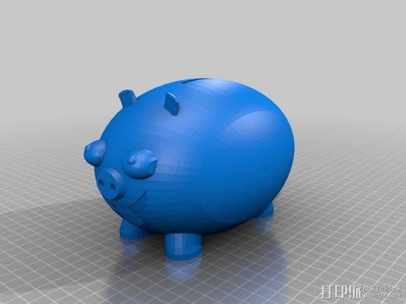 小猪存钱罐 3D模型  图2