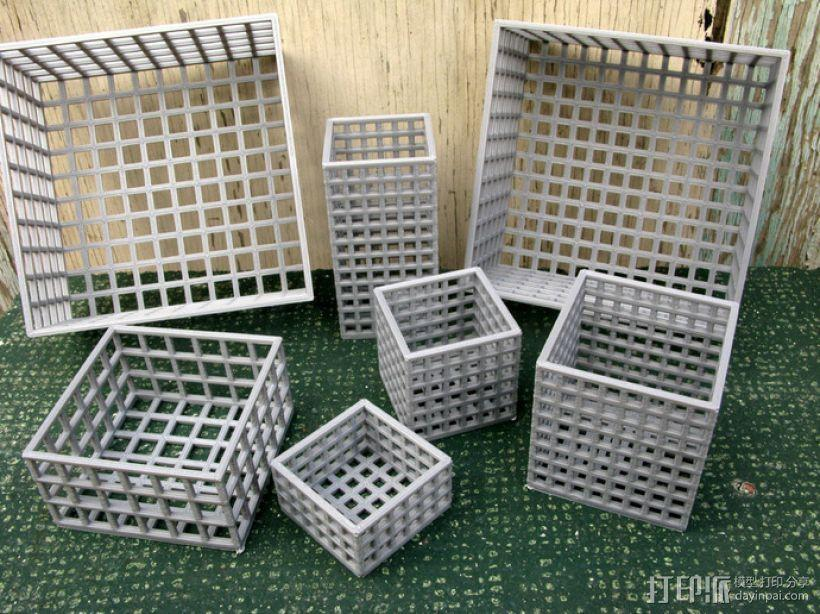 方形镂空容器 3D模型  图1