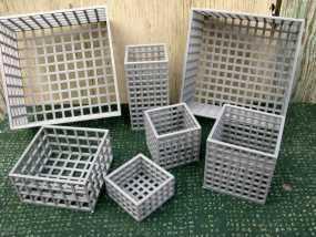 方形镂空容器 3D模型