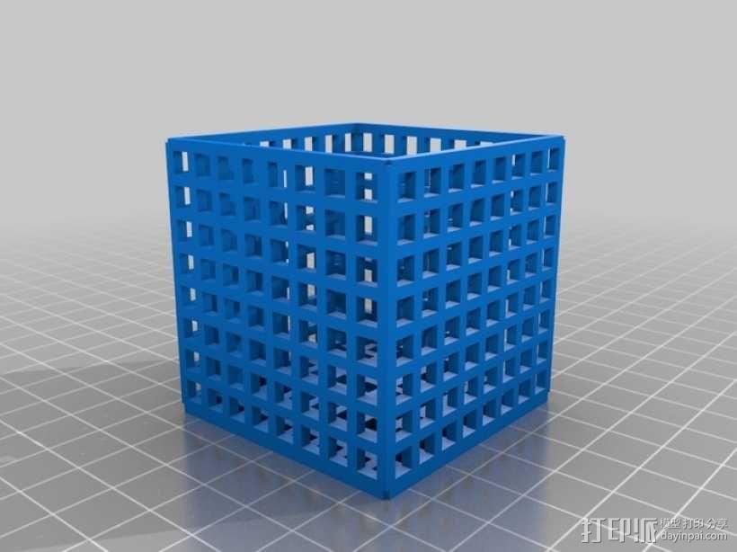 方形镂空容器 3D模型  图2