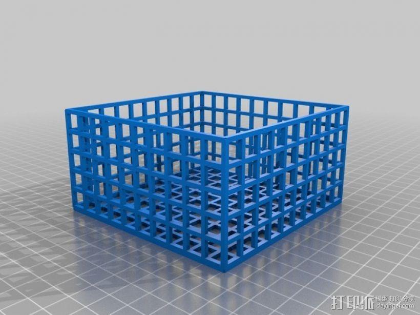 方形镂空容器 3D模型  图3