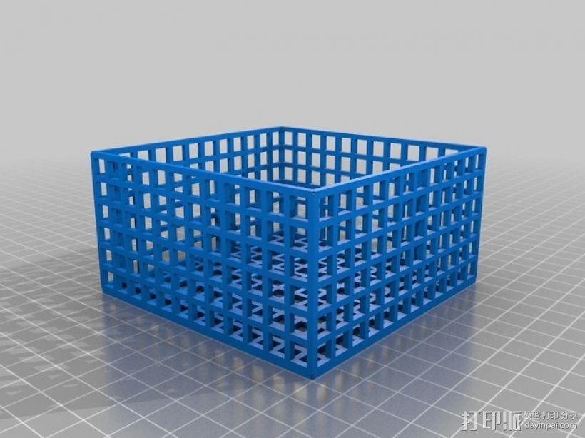 方形镂空容器 3D模型  图4