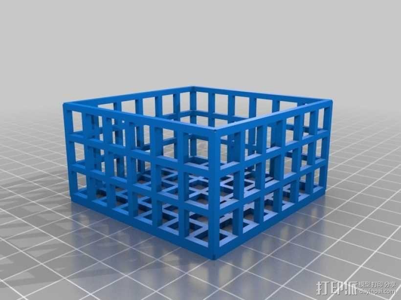方形镂空容器 3D模型  图5