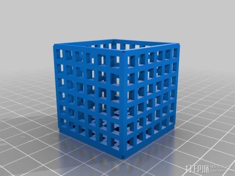 方形镂空容器 3D模型  图7