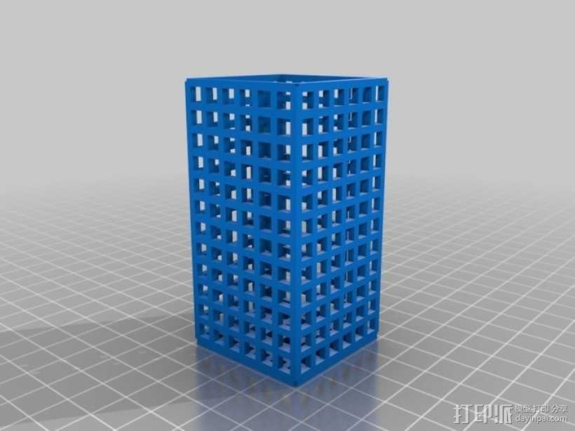 方形镂空容器 3D模型  图8