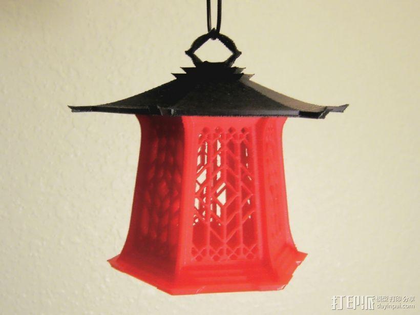 传统中式灯笼2 3D模型  图1