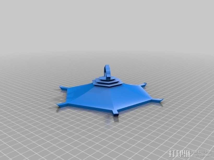 传统中式灯笼2 3D模型  图3