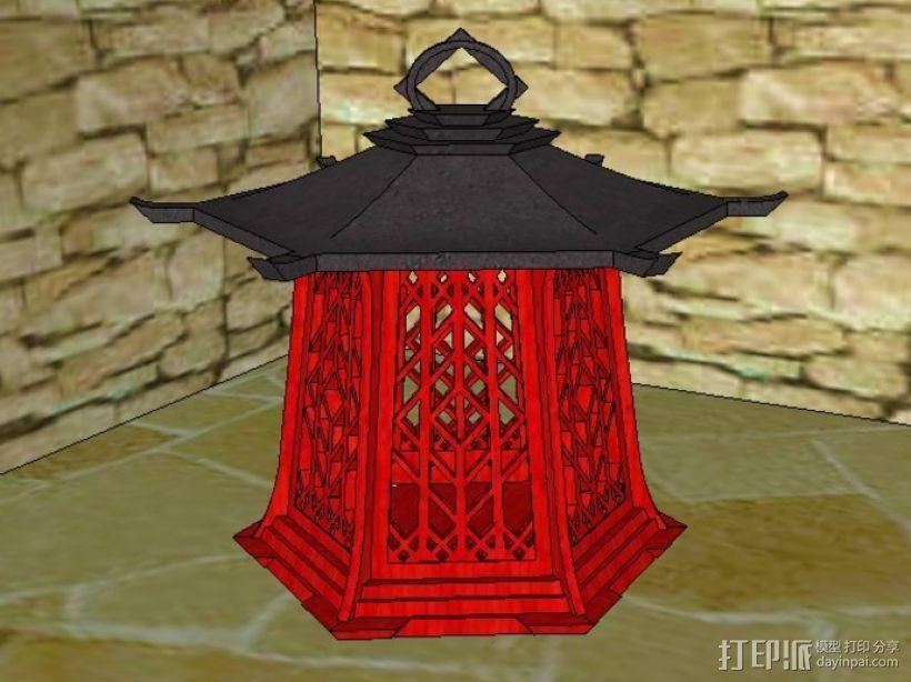 传统中式灯笼2 3D模型  图2