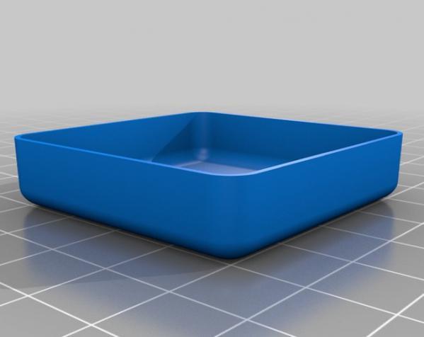 定制化迷你方形/圆形托盘 3D模型  图3