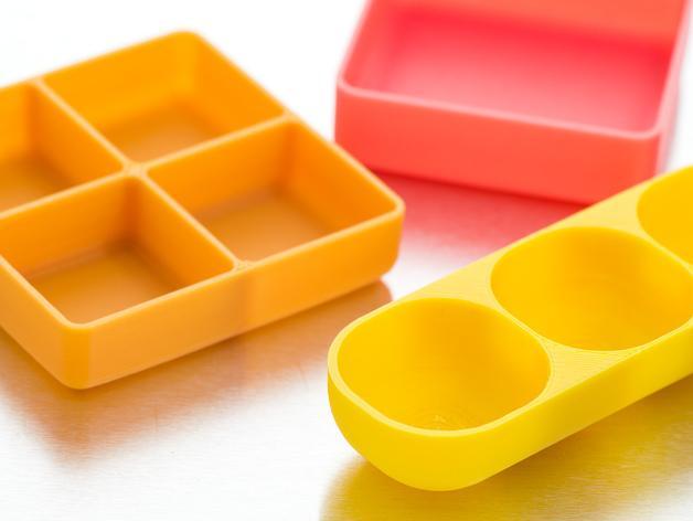 定制化迷你方形/圆形托盘 3D模型  图2