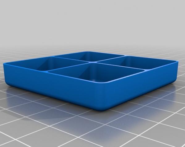 定制化迷你方形/圆形托盘 3D模型  图4