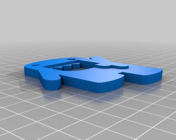 迷你啤酒开瓶器 3D模型  图1