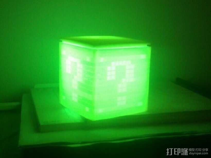 迷你立方体LED灯罩 3D模型  图1