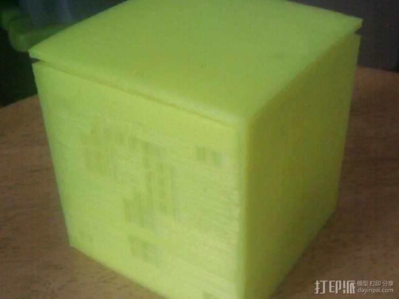 迷你立方体LED灯罩 3D模型  图2
