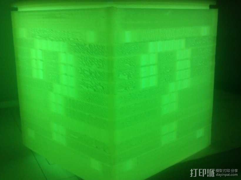 迷你立方体LED灯罩 3D模型  图3
