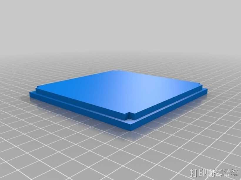 迷你立方体LED灯罩 3D模型  图4