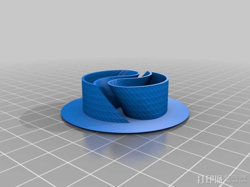 阴阳电缆线轴 3D模型  图2