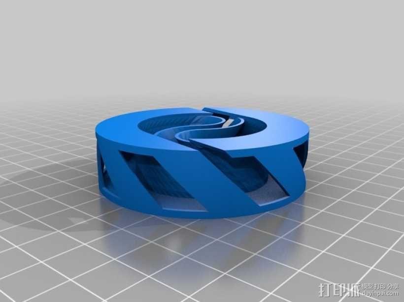 阴阳电缆线轴 3D模型  图1