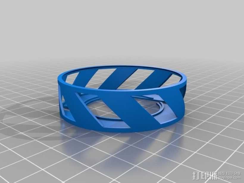 阴阳电缆线轴 3D模型  图3
