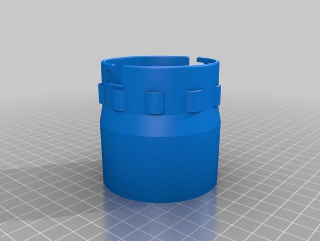 砂光机真空配适器 3D模型  图2