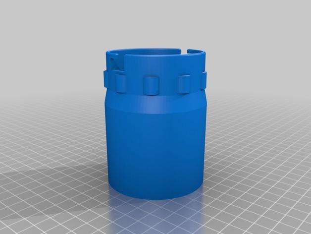 砂光机真空配适器 3D模型  图3