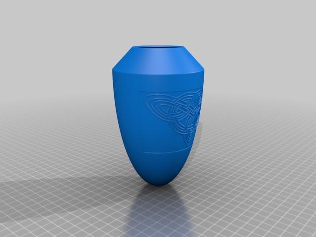 浮雕凯尔特花瓶/灯罩 3D模型  图1