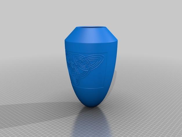 浮雕凯尔特花瓶/灯罩 3D模型  图2