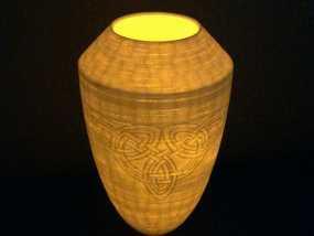 浮雕凯尔特花瓶/灯罩 3D模型