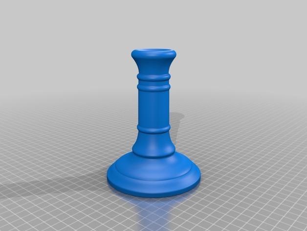 传统古典圆形烛台 3D模型  图2