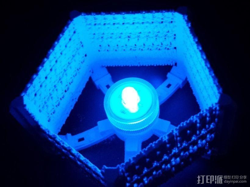 五边形灯罩/光笼15b 3D模型  图1