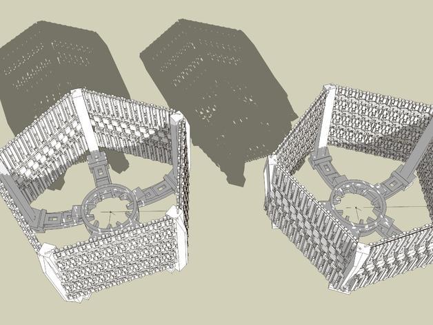 五边形灯罩/光笼15b 3D模型  图4