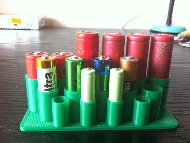 迷你电池盒 3D模型  图3