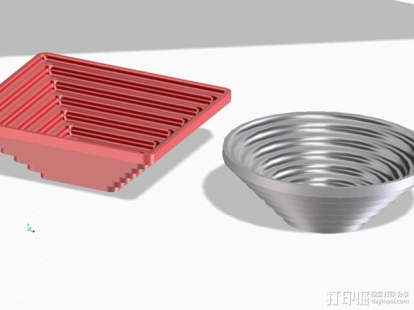 矩形碗/圆形碗 3D模型  图1