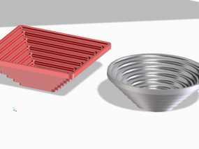 矩形碗/圆形碗 3D模型